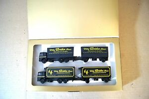 HERPA HO 1:87 SCALE Willy Bruhn Söhne LORRY SET ml