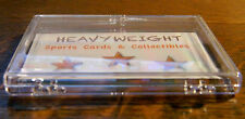 (2) ULTRA PRO CLEAR 15CT HINGED SNAP CASES *** HOLDS 10-15 STANDARD SPORTS CARDS