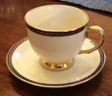Lenox China Teacups and saucer in Hamilton pattern