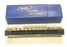 Repair Hohner 270 Hering 48 Chromatic Harmonica Reedplates+Comb 5148 F#/Irish G