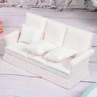 Dolls House Mini Sofa & Cushions Miniature 1:12 Living Room Furniture
