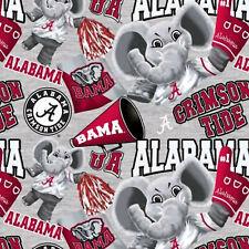 Alabama U Grey Mascot Fabric Fat Quarters