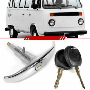 Decklid Lock Rear Hatch Engine Hood Lock T Handle with 2 Keys Chrome with 2 Keys