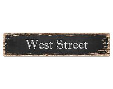 SP0533 WEST STREET Street Sign Home Room Cafe Store Shop Bar Chic Decor Gift