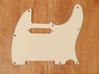 PICKGUARD VINTAGE AGED WHITE 3 PLY FOR TELECASTER