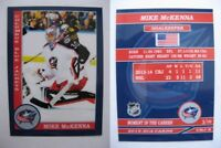 2015 SCA Mike McKenna Columbus Blue Jackets goalie never issued produced #d/10