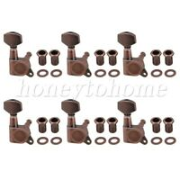 6pcs Bronze Metal Guitar Tuning Pegs Tuners Machine Head for Electric Guitar