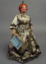 1800s? Old 13.5 inch LITTLE WOMEN JO Handmade Paper Mache Doll LOUISA MAY ALCOTT