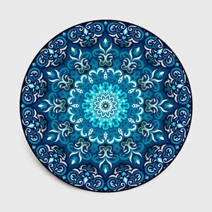 Round Carpet Mandala Flower Printed Soft Carpets For Living Room Anti-slip Rug
