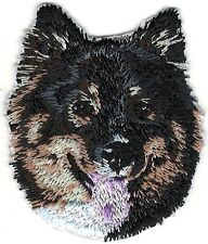 "1 7/8"" x 2"" Finnish Lapphund Face Portrait Dog Breed Embroidery Applique Patch"
