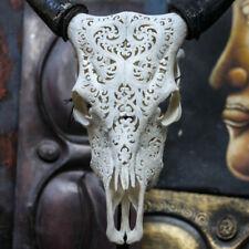 Hand Carved Heart Steer Cow Skull Horns Bull Longhorns Buffalo Taxidermy