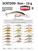 Rapala Scatter Rap® Tail Dancer Fishing Lure 9cm 13g Various Colours