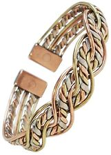 Magnetic Therapy Bracelet Mens or Womens Mexican Twist Copper Bangle - New - M17