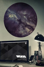 'Nebula' Woven Polyester 47x47cm Medium Wall Canvas Poster Picture Self Adhesive