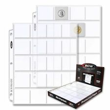 100 Box of BCW 20-Pocket Album Pages for 2x2 Coin Flips binder sheets