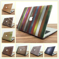 New Wood Pattern Matte Hard Case Cover for MacBook Air Pro 11 12 13 15 '' Retina