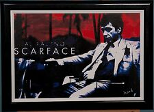 AL PACINO IN SCARFACE IN OIL & ACRYLIC ON CANVAS BY SARAH HOOD
