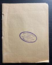 NH Levy Jaffa Palestine Thora Calendar for Israelites 1901-1902