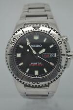 Rare Seiko Kinetic Black Knight Mens Divers Watch SMY089 Serviced New Capacitor