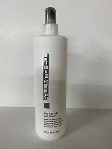 2 x Paul Mitchell Soft Style sculpting Spray Gel 16.9 Fl Oz  + Elvis  Brush