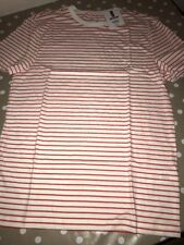 TOPMAN SLIM FIT RED AND WHITE T-Shirt Mens SIZE SMALL Top Stripes Where's Wally?
