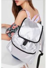 Urban Outfitters Classic Silver Flap Front canvas Backpack so roomy New with tag
