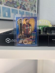 Lionel Messi 100 Club Refractor Card 2020/21 Topps Match Attax CL9 Brand New!