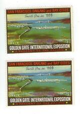 1939 California Golden Gate International Exposition poster stamps