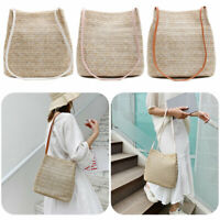 Women Ladies Bohemia Straw Bag Woven Rattan Handbag Crossbody Summer Beach Bags