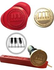Wax Stamp, PIANO KEYS MUSIC Instrument design and Red Wax Stick XWSC007 -KIT