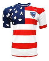 Men's USA Fan Soccer Jersey Color White/Red/Blue