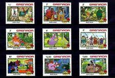 GRENADA - 1982 - DISNEY - ROBIN HOOD - MERRY MEN ++ CHRISTMAS - MINT - SET OF 9!