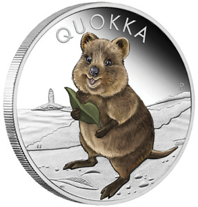2021 Quokka 1oz silver proof coloured coin