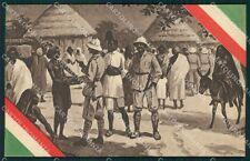Militari Coloniali Africa Tricolore Ascari cartolina XF2992