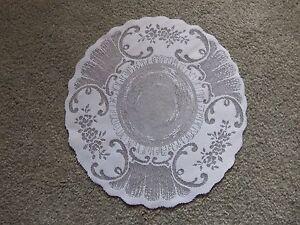 """White lace Tea Time design Doily 15""""round set of 2"""