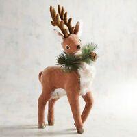 New Pier 1 Imports Natural Small Velvet Standing Deer Figure Decor Fall