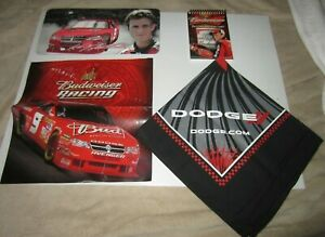 Nascar Driver Kasey Kahne #9 Budweiser Dodge License Plate, Bandana, & Note Pad
