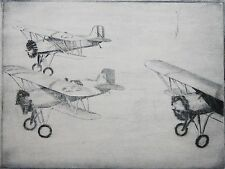 DON SWANN-MD Artist-Hand Signed Lim.Ed.Etching-Navy Fighter Airplanes