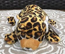 "Baby LEOPARD with beans / Realistic Plush Stuffed Animal 9"" / SOS Save Our Space"