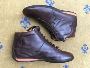 Hermes Mens Shoes Brown Leather Trainers Sneakers UK 8.5 US 9.5 EU 42.5 Boots