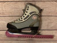 CCM SP 60 Figure Ice Skates, girl's Sz 4,  Gray soft side