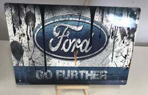 Ford Tin Metal Sign Plaque Bar Pub Vintage Retro Club Tavern #LARGE