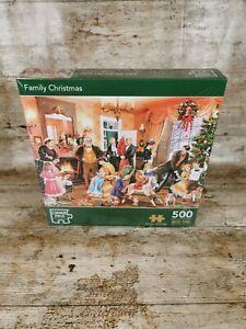 Corner Piece 500 Pieces Jigsaw Puzzle - Family Christmas Brand New Damaged Box