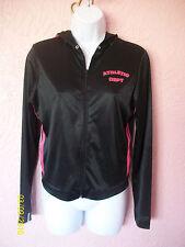 Miken Clothing Co. Womens Zip Up Jacket Size M Black Pink Coat Athletic Dept