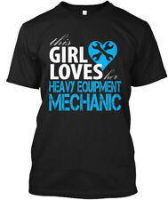 Heavy Equipment Mechanic Girl Hanes Tagless Tee T-Shirt