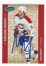 Sheldon Souray Signed 2005/06 Parkhurst Card #258