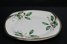 Lenox Holiday Nouveau Square Accent Plate NWT