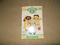 Uncut Butterick 1985 Cabbage Patch Kids Doll Clothes Sewing Pattern #3152