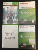 Lot of 4 Xbox 360 Assassin's Creed Video Games