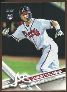 2017 Topps Series 1 #87 Dansby Swanson Atlanta Braves Rookie Card RC